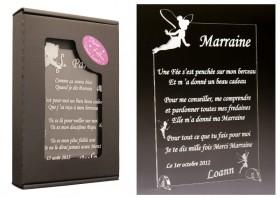Poème Marraine - Mod. Fée Gravure Events - Cadeau personnalisé - 1