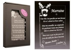 Poème Marraine - Mod. Cerf - Cadeau personnalise personnalisable - 1