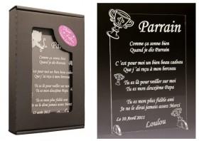 Poème Parrain - Mod. Calice - Cadeau personnalise personnalisable - 1