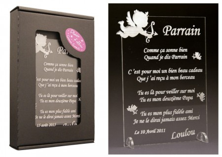 Poème Parrain - Mod. Ange Gravure Events - Cadeau personnalisé - 1
