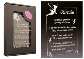 Poème Parrain - Mod. Fée Gravure Events - Cadeau personnalisé - 1