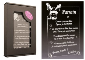 Poème Parrain - Mod. Cerf - Cadeau personnalise personnalisable - 1