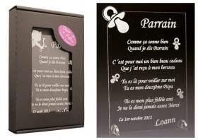 Poème Parrain - Mod. Tototte Gravure Events - Cadeau personnalisé - 1