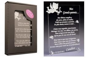 Poème Mes Grands Parents - Mod.Ange Gravure Events - Cadeau personnalisé - 1