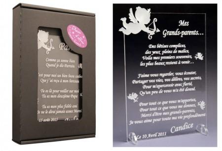 Poème Mes Grands Parents - Mod.Ange - Cadeau personnalise personnalisable - 1