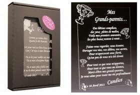 Poème Mes Grands Parents - Mod.Calice Gravure Events - Cadeau personnalisé - 1