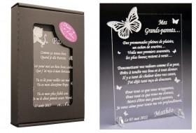 Poème Mes Grands Parents - Mod.Papillon Gravure Events - Cadeau personnalisé - 1