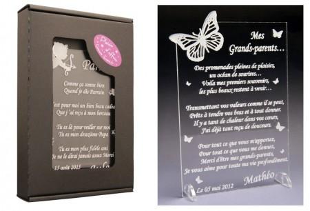 Poème Mes Grands Parents - Mod.Papillon - Cadeau personnalise personnalisable - 1