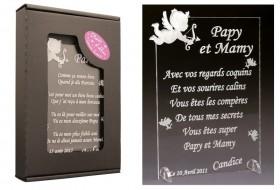 Poème Papy et Mamy - Mod. Ange Gravure Events - Cadeau personnalisé - 1