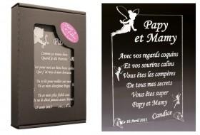 Poème Papy et Mamy - Mod. Fée Gravure Events - Cadeau personnalisé - 1