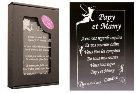 Poème Papy et Mamy - Mod. Fée - Cadeau personnalise personnalisable - 1