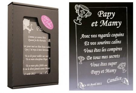 Poème Papy et Mamy - Mod. Calice - Cadeau personnalise personnalisable - 1