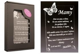 Poème Mamy - Mod. Papillon - Cadeau personnalise personnalisable - 1