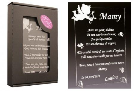 Poème Mamy - Mod. Ange - Cadeau personnalise personnalisable - 1