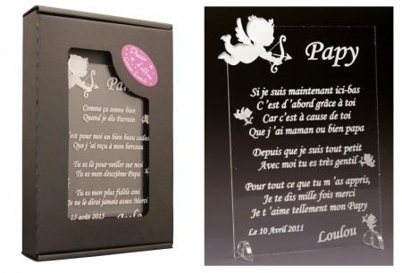 Poème Papy - Mod. Ange - Cadeau personnalise personnalisable - 1