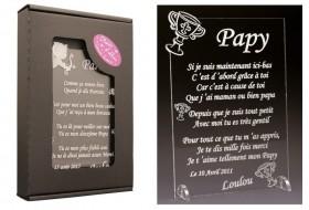 Poème Papy - Mod. Calice Gravure Events - Cadeau personnalisé - 1