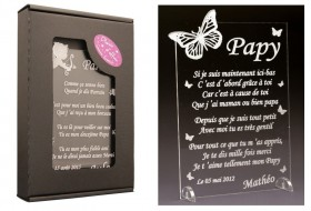 Poème Papy - Mod. Papillon Gravure Events - Cadeau personnalisé - 1