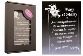 Poème Papy et Mamy - Mod. Bonhomme de Neige - Cadeau personnalise personnalisable - 1