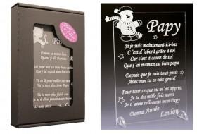Poème Papy - Mod. Bonhomme de Neige - Cadeau personnalise personnalisable - 1