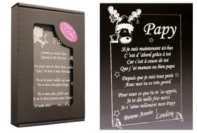 Poème Papy - Mod. Cerf - Cadeau personnalise personnalisable - 1