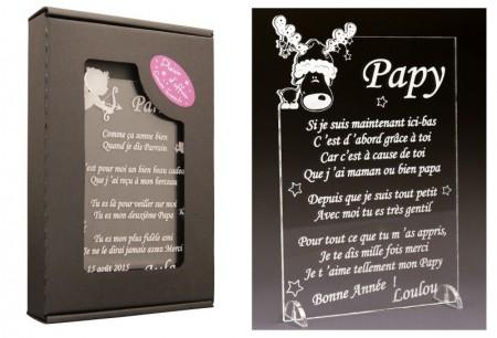 Poème Papy - Mod. Cerf Gravure Events - Cadeau personnalisé - 1