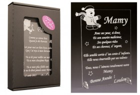 Poème Mamy - Mod. Bonhomme de Neige - Cadeau personnalise personnalisable - 1