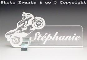 Marque Place Moto de course Gravure Events - Cadeau personnalisé - 2