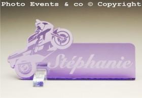 Marque Place Moto de course Gravure Events - Cadeau personnalisé - 9