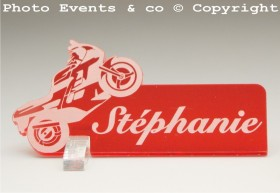 Marque Place Moto de course Gravure Events - Cadeau personnalisé - 10
