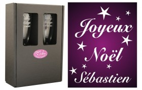 Flûte Noël - Etoiles avec boîte cadeau - Cadeau personnalise personnalisable - 1