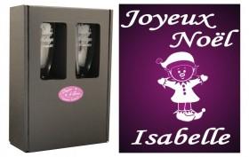 Flûte Noël - modèle Lutin debout avec boîte cadeau - Cadeau personnalise personnalisable - 1
