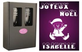 Flûte Noël - modèle Lutin assis avec boîte cadeau - Cadeau personnalise personnalisable - 1