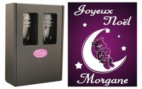 Flûte Noël - modèle Nounours avec boîte cadeau - Cadeau personnalise personnalisable - 1