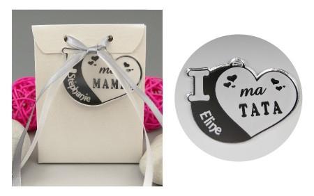 Boite de Chocolat - Médaille Tata - Mod.Cœur.Blanc - Cadeau personnalise personnalisable - 1