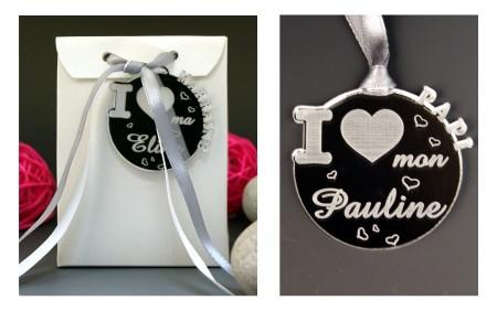 Boite de Chocolat - Médaille I ♥ Papi - Cadeau personnalise personnalisable - 1