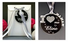 Boite de Chocolat - Médaille I ♥ Maman Gravure Events - Cadeau personnalisé - 1
