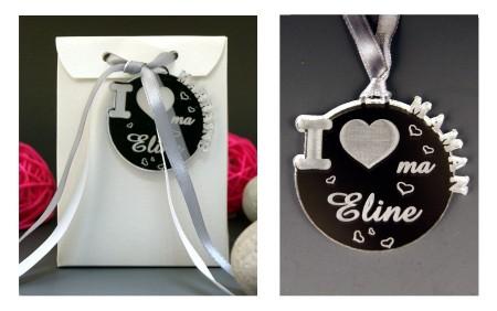 Boite de Chocolat - Médaille I ♥ Maman - Cadeau personnalise personnalisable - 1