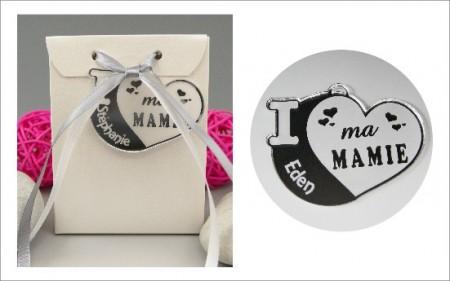 Boite de Chocolat - Médaille Mamie - Mod.Cœur.Blanc - Cadeau personnalise personnalisable - 1