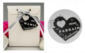 Boite de Chocolat - Médaille Parrain - Mod.Cœur.Seul Gravure Events - Cadeau personnalisé - 1