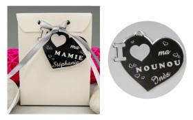 Boite de Chocolat - Médaille Nounou - Mod.Cœur.Seul Gravure Events - Cadeau personnalisé - 1