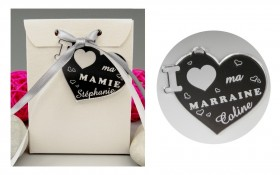 Boite de Chocolat - Médaille Marraine - Mod.Cœur.Seul Gravure Events - Cadeau personnalisé - 1