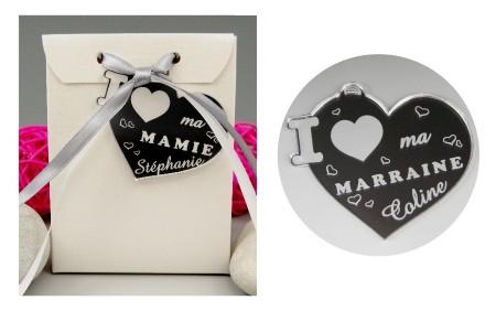 Boite de Chocolat - Médaille Marraine - Mod.Cœur.Seul - Cadeau personnalise personnalisable - 1