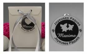 Boite de Chocolat Pâques - Médaille Cloches Gravure Events - Cadeau personnalisé - 1
