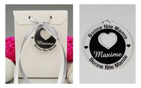 Boite de Chocolat - Bonne Fête Mamie - Médaille Cœur Rond - Cadeau personnalise personnalisable - 1