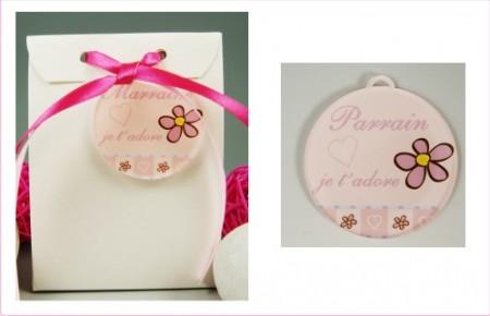Boite de Chocolat - Médaille Parrain - Mod.Lef.GRose - Cadeau personnalise personnalisable - 1