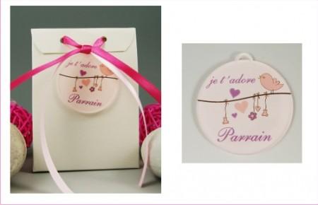 Boite de Chocolat - Médaille Parrain - Mod.Lef.L Gravure Events - Cadeau personnalisé - 1