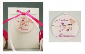Boite de Chocolat - Médaille Marraine - Mod.Lef.L Gravure Events - Cadeau personnalisé - 1
