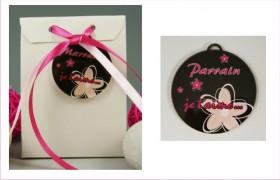 Boite de Chocolat - Médaille Parrain - Mod.Lef.C - Cadeau personnalise personnalisable - 1