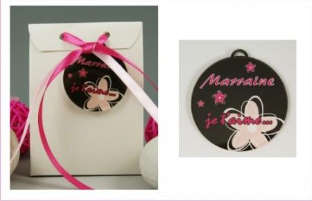 Boite de Chocolat - Médaille Marraine - Mod.Lef.C - Cadeau personnalise personnalisable - 1