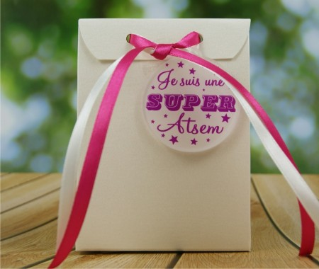 Boite de Chocolat - Je suis une super ATSEM - Cadeau personnalise personnalisable - 1
